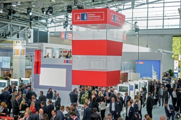 The state of Bremen's stand at the Expo Real real estate trade fair