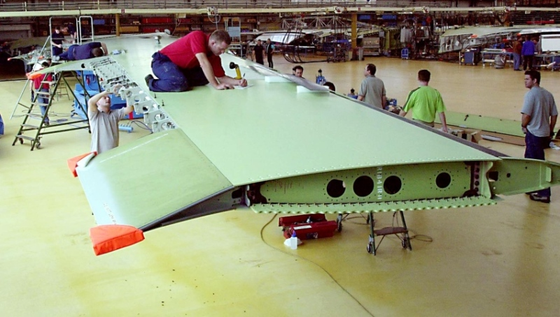 Wing assembly at Airbus in Bremen