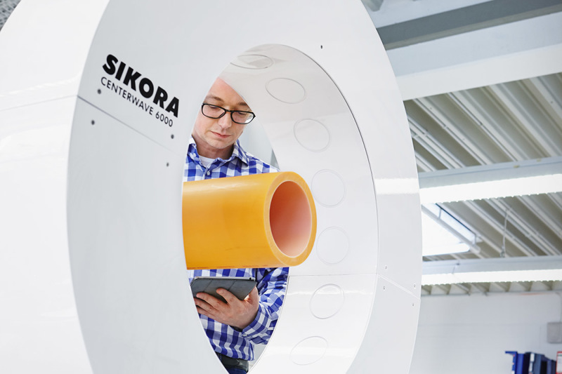 Sikora makes measuring equipment to continuously inspect pipes and hoses during production.