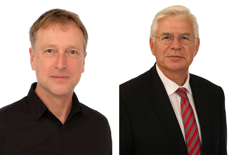 Christoph Hoffmeister, process engineer, and Professor Axel Herrmann, head of the Fibre Institute
