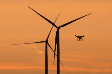 BIBA in Bremen is researching the use of drones in the wind energy sector.