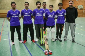 The men's cricket team of SG Findorff sports club in Bremen