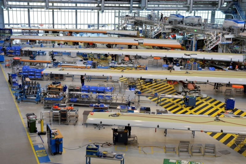 The Airbus plant at Bremen airport is where the electrics, hydraulics and moving parts are fitted to the landing flaps of all Airbus models