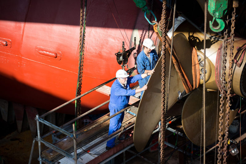 Repairs and maintenance plays an important role at German Dry Docks