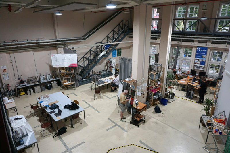 FabLab Bremen's two levels provide plenty of space