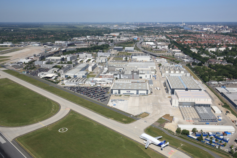 The vast Airbus Group site at Bremen Airport-City