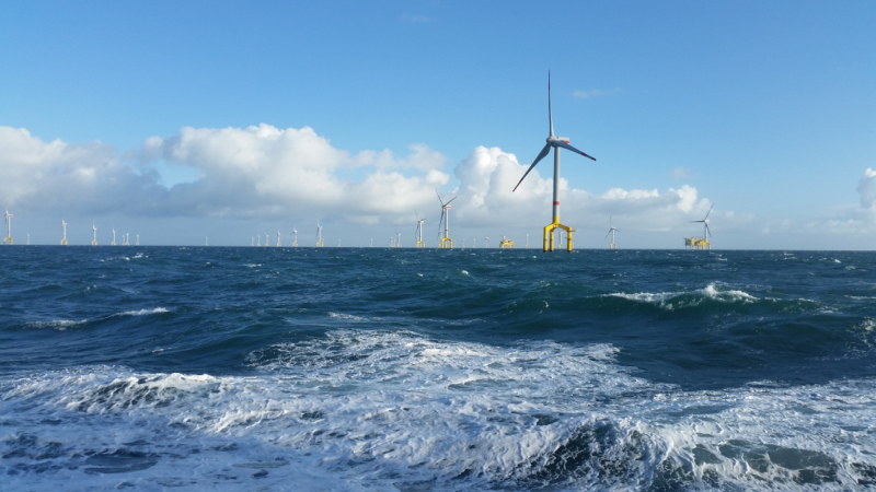 400 megawatts across 60 square kilometres – the BO1 wind farm in the North Sea