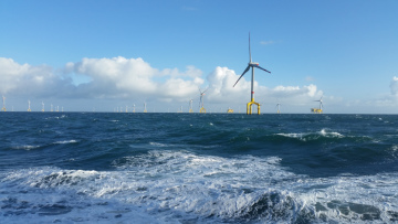 The BARD Offshore 1 wind farm with an output of 400 megawatts