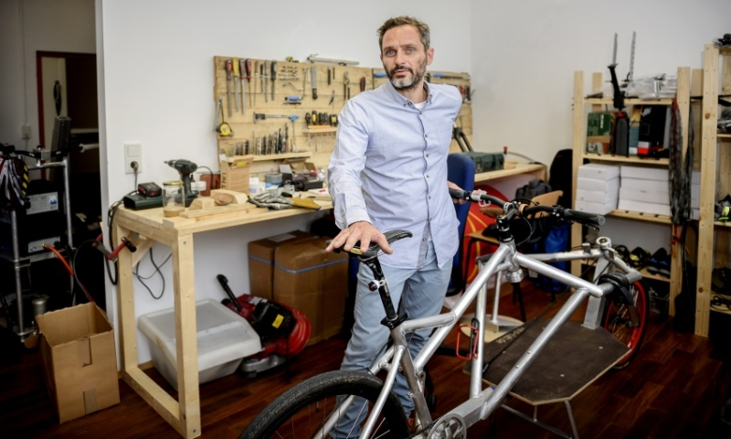 Stasinopoulos also builds cargo bikes at his workshop on the Sirius Business Park in Hermann-Ritter-Strasse.