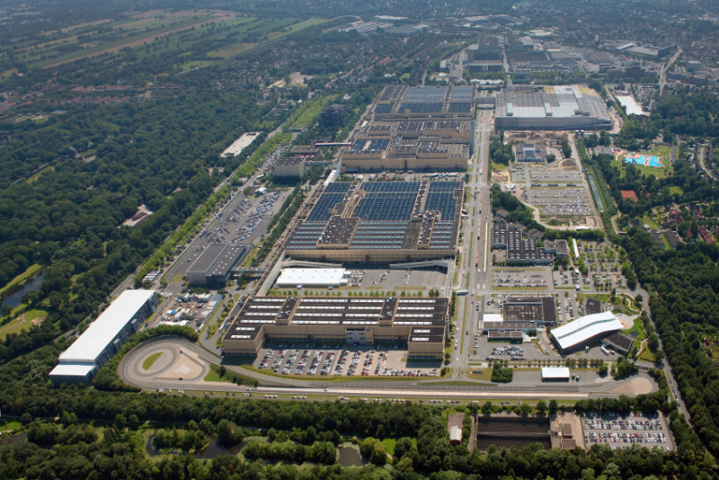 The Mercedes plant in Bremen has 1.5 million square metres of factory space