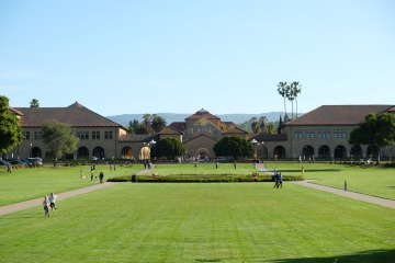 Campus of Stanford University - today almost deserted (varchive image)